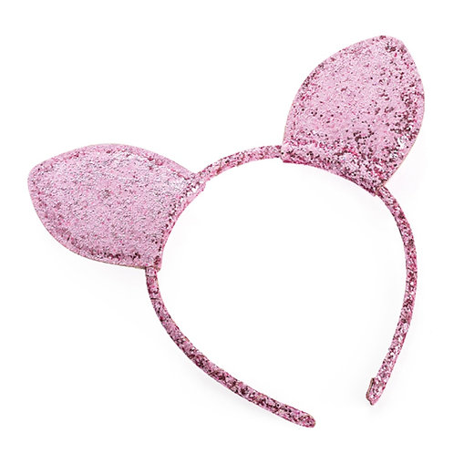 Pink Glitter Ears Head Band Hen Parties