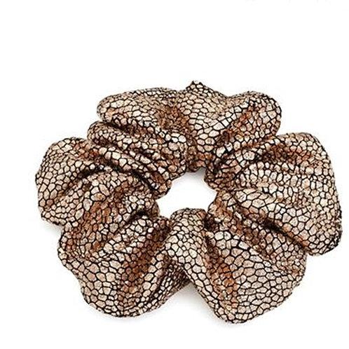 Gold Metallic Foil Stretchy Hair Scrunchie