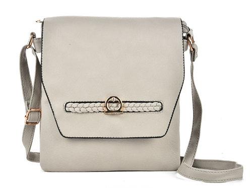 Womens Light Grey Cross Body Messenger Bag