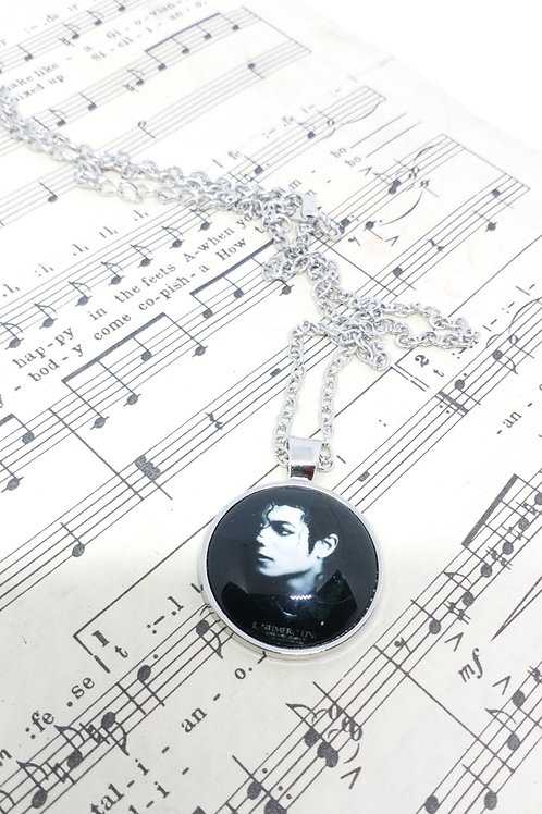 Michael Jackson Black and White Necklace Pendant