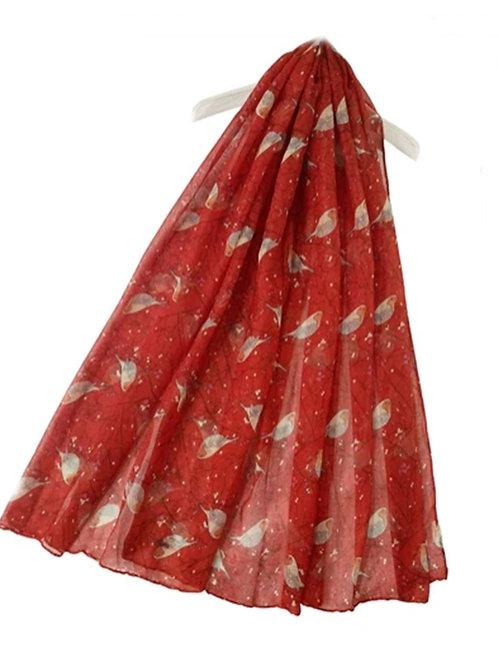 Robin Redbreast fashion Scarf