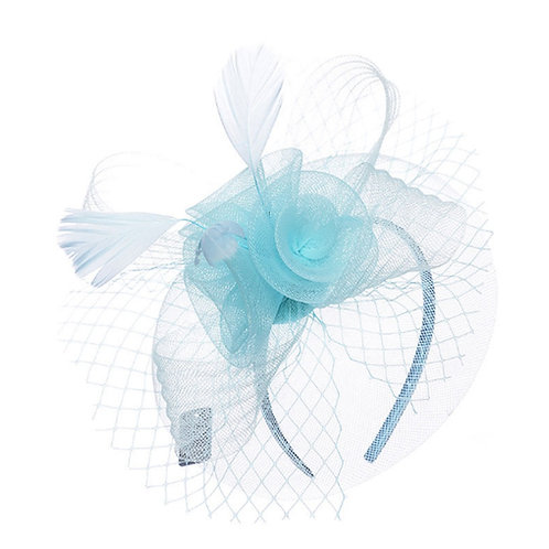 Sky Blue Net Fascinator