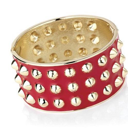 Red Spike Stud Fashion Bangle