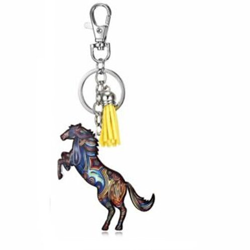 Multi Colour Horse Key Ring Bag Charm