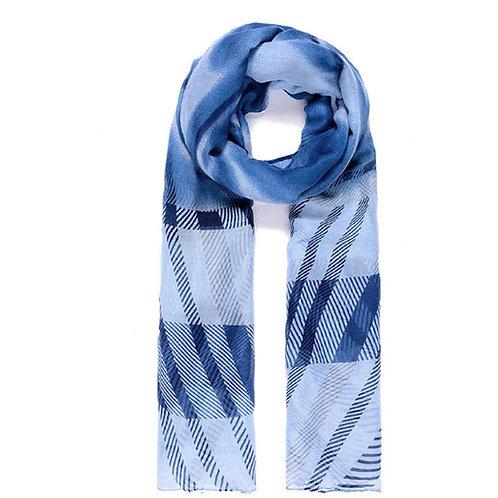 Blue Tones Striped Unisex Scarf