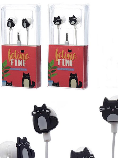 Feline Fine Cat Shaped Earphones