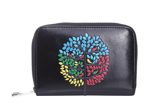 Small Black Tree of Life Coin Purse