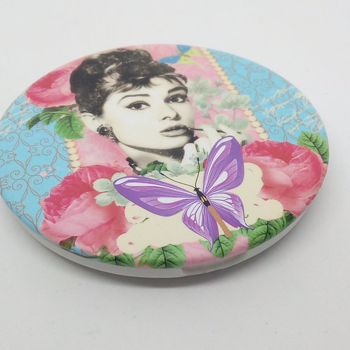 Audrey Hepburn Cosmetic Mirror Turquoise
