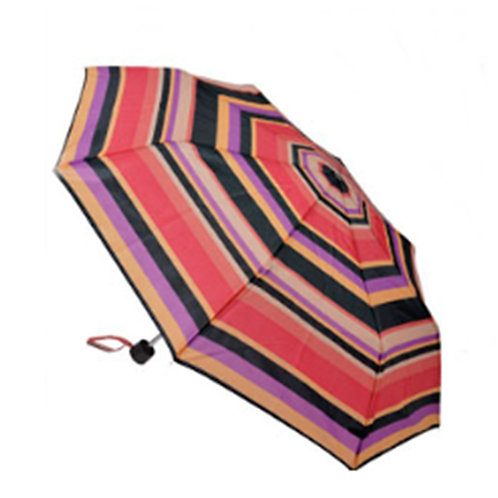 Multi Colour Orange Purple Stripey Umbrella