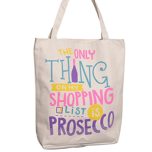Recyclable Prosecco Slogan Shopper Bag
