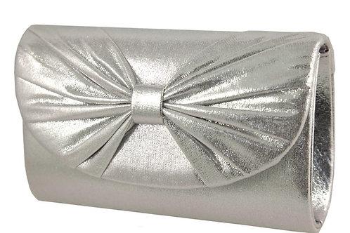 Mini Small Metallic Silver Clutch Bag