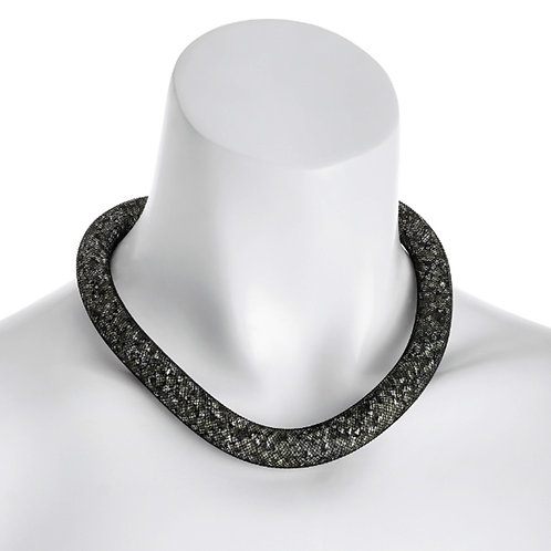 Black Sparkly Mesh Net Choker Necklace