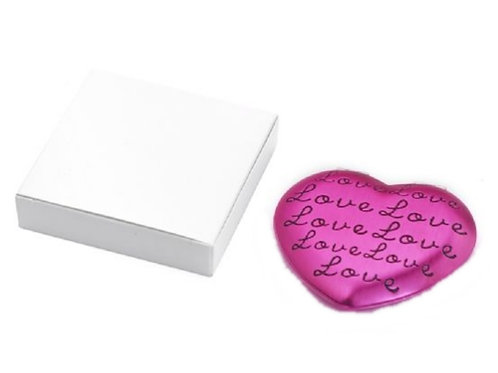 Pink Heart Shape Cosmetic Mirror