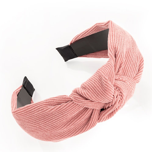 Womens Girls Dusty light pink wide knotted hair band