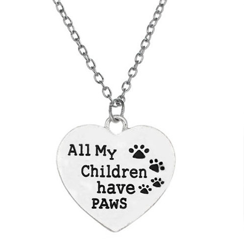 Silver Colour Pets Slogan Pendant