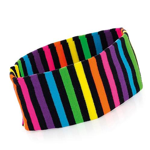 Rainbow Print Stripe Hippy Hair band
