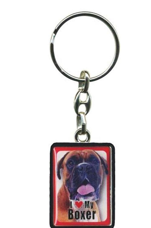I love My Boxer Dog Key ring
