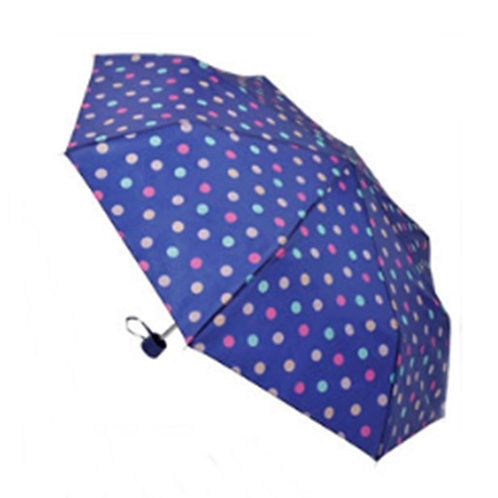 Blue Multi Spotted Manual Umbrella