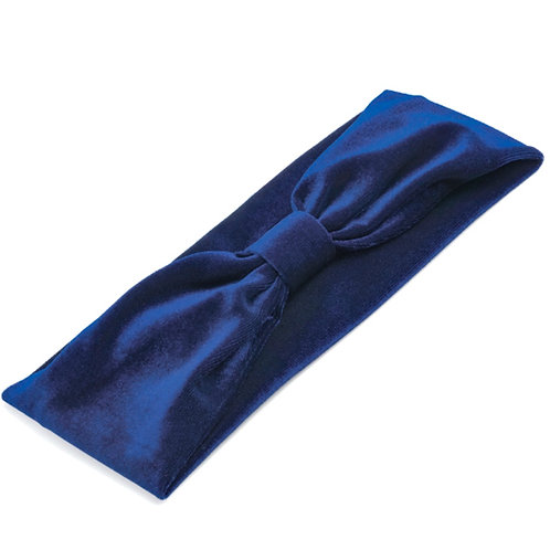 Navy blue stretchy Velvet hair wrap band