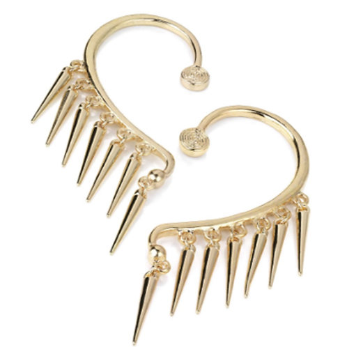 Gold Colour Spiked Punk Ear Hooks