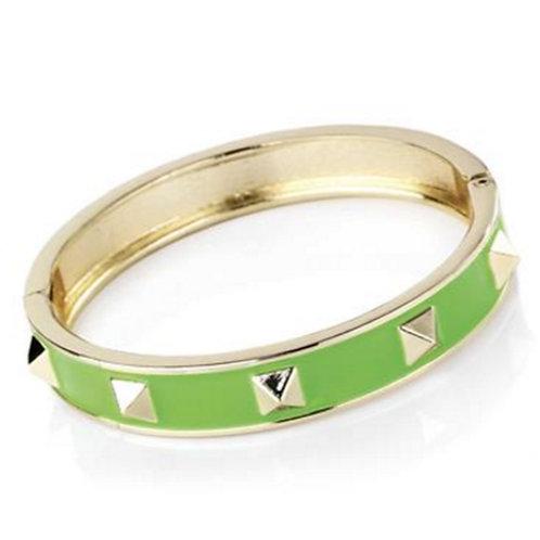Neon Green Studded Bangle Punk Bracelet