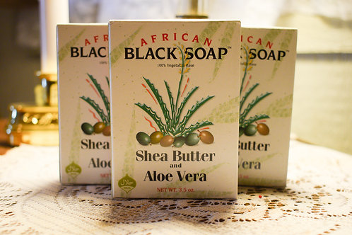 African Black Soap with Shea Butter & Aloe