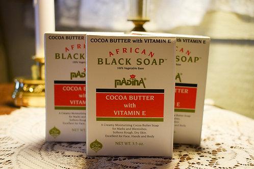 African Black Soap with Cocoa Butter & Vitamin E