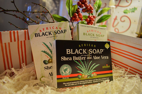 African Black Soap Holiday Gift Set