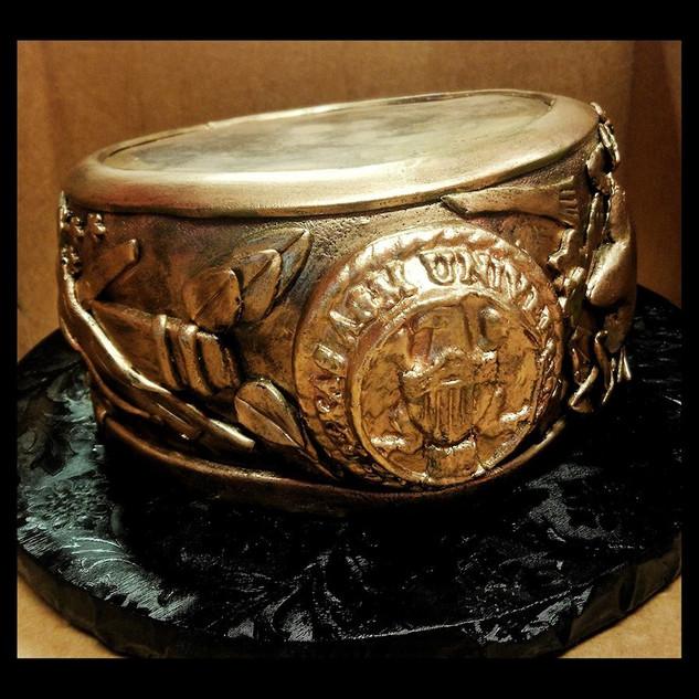 3D aggie ring cake