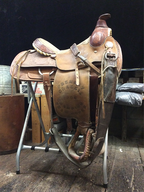 18 inch championship roping saddle