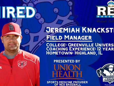 REX Baseball Adds Jeremiah Knackstedt as New Field Manager