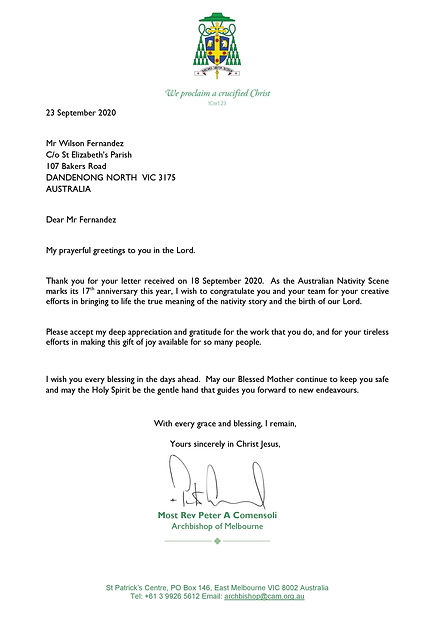 23Sep20 Archbishop Letter to Mr Wilson F
