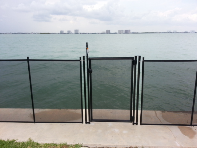 Black self closing gate