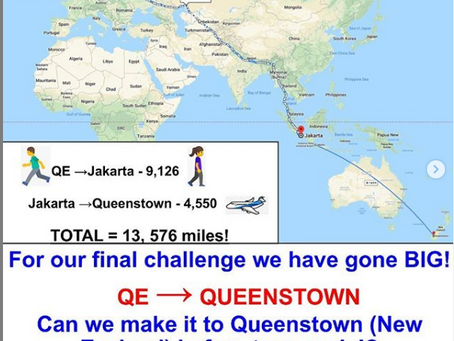 QE to Queenstown Challenge for  students, staff and parents