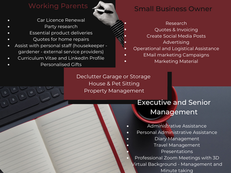 What qualifies you for a personal assistant?