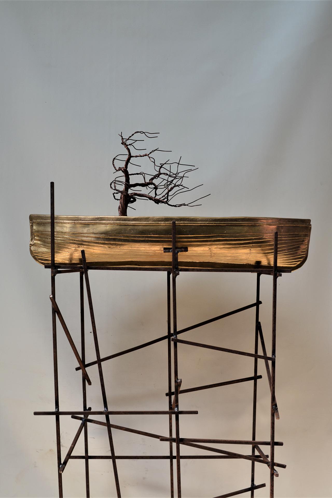 Balsa bronce árbol Titanic. NoDisponible