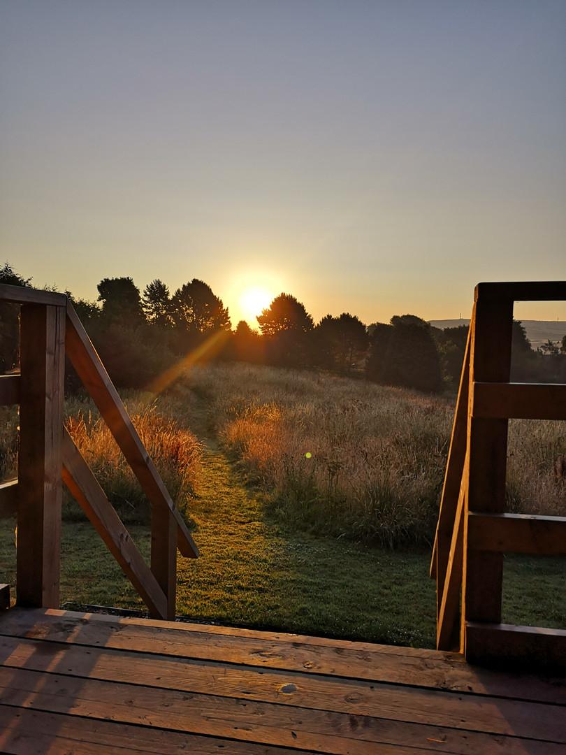 Sunrise over the Sibbecks Meadow