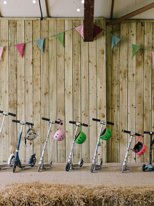 Scooters in the barn