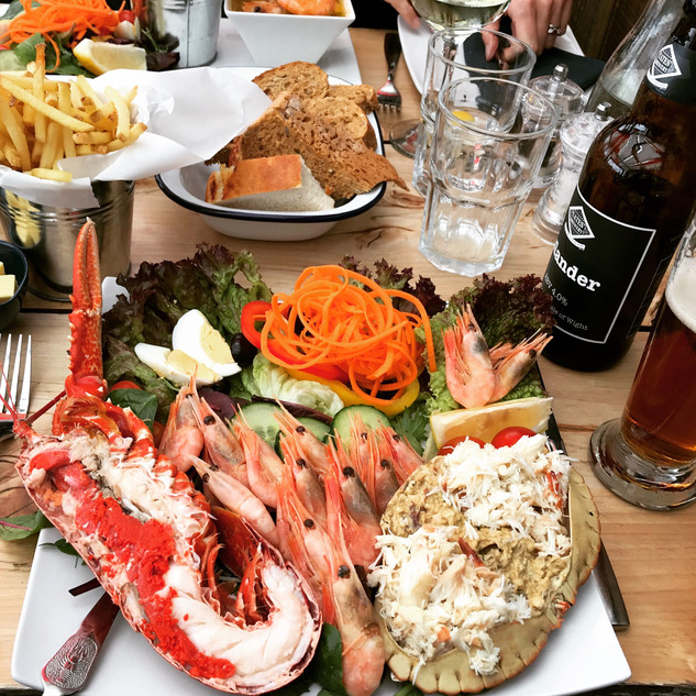Fisherman's Platter at the Boat House, Steephill Cove