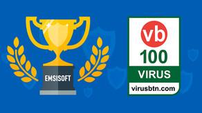 Emsisoft gana VB100 en las Pruebas de Agosto de 2019