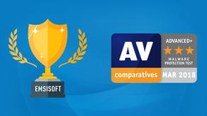 Emsisoft Recibe Las Mejores Calificaciones en AV-Comparatives Malware Test
