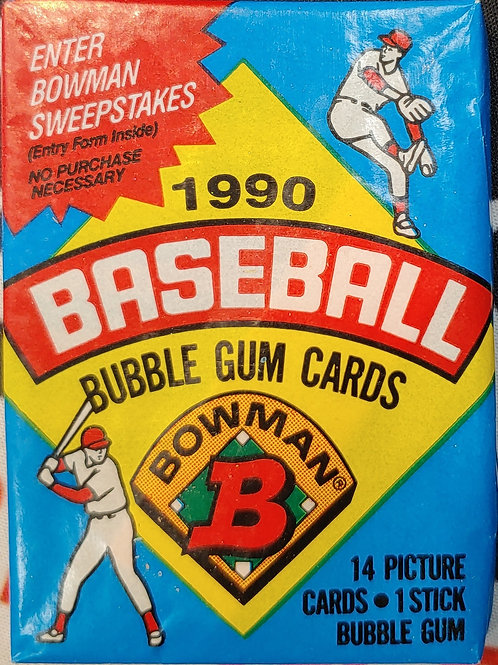1990 Bowman Baseball Wax Pack (Personal Pack Only)