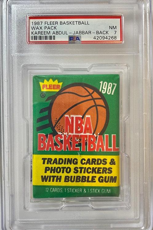 1987 Fleer Basketball Wax Pack  13 Spot Random Card Group Break PSA 7