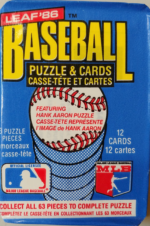 1986 Leaf Baseball Wax Pack (Personal Pack Only)