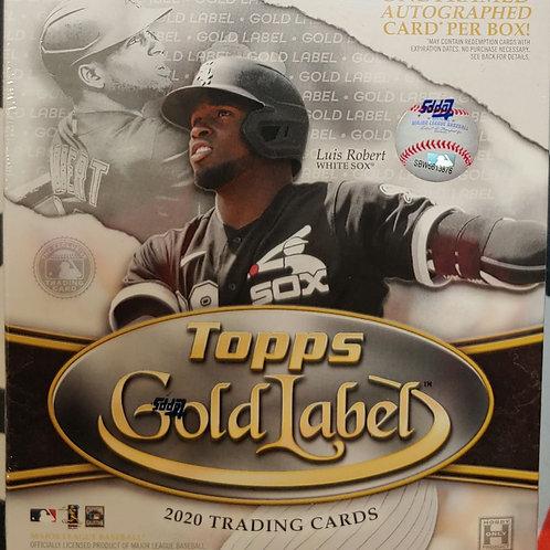 2020 Topps Gold Label Baseball (Full Box Rip)