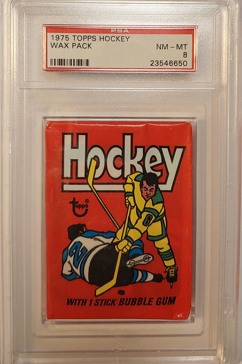 1975 Topps Hockey Wax Pack PSA 8 (Personal Pack Only)