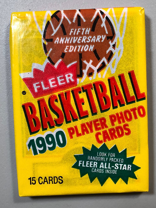 1990 Fleer Basketball Wax Pack (Personal Pack Only)
