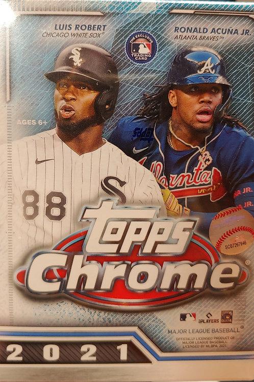 2021 Topps Chrome Baseball Blaster Pack (Personal Pack Only)