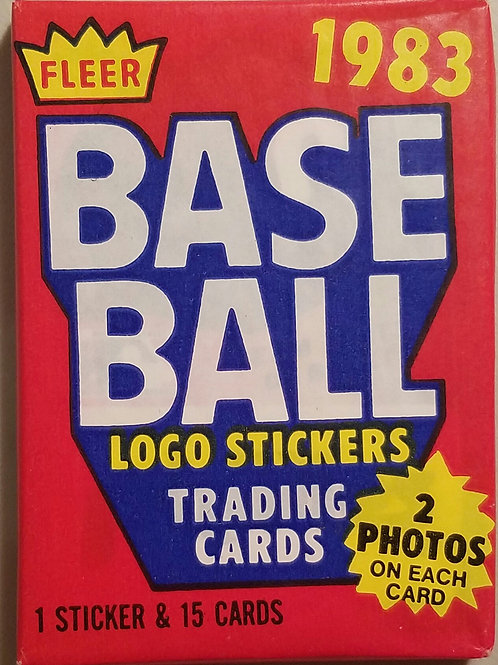 1983 Fleer Baseball Wax Pack (Personal Pack Only)