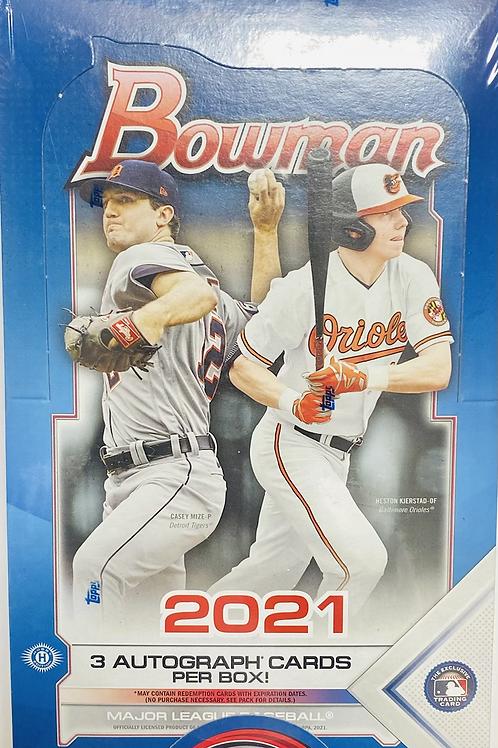 2021 Bowman Baseball Hobby Jumbo (Personal Pack Only)